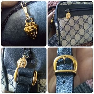 Gucci Bags - Authentic Gucci GG web crossbody ophidia blue